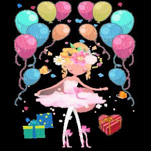 Ballerina Geburtstagsshirt 10 Jahre Mädchen