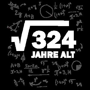 18. Geburtstag 18 Mathe Mathematik Wurzel rechnen
