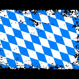 Bayern Flagge Used Look Oktoberfest Vintage Flagge