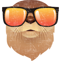 Otter With Sunglasses Illustration