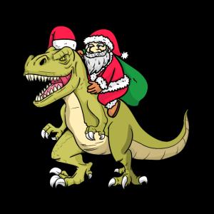 Sankt-Reiten Dino Santa Riding Dino