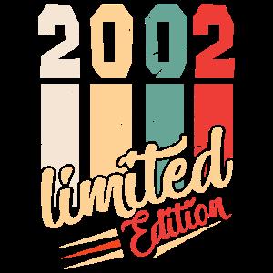 18 Geburtstag Vintage Jahrgang Retro 2002 Geschenk