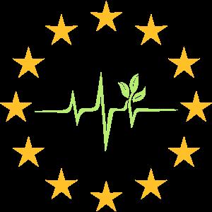 EU Europa Fahne Symbol Puls Pflanze Klimaschutz