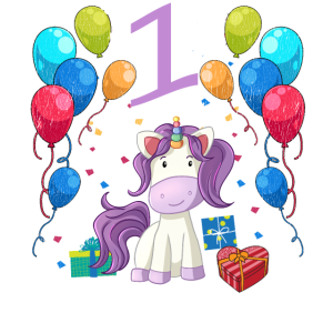 Geburtstagsshirt Einhorn Mädchen 1 Jahr
