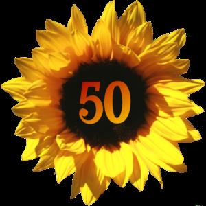 Sonnenblume Geschenk zum 50. Geburtstag