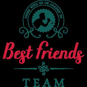 best friends team drink