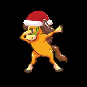 Pferd Dapping Tanz Santa Claus Weihnachten