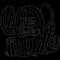 Stay Sharp | Cool Cactus Illustration Design