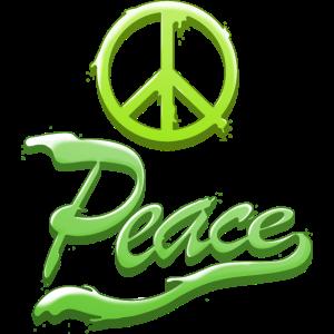 Peace Grün Hippie Geschenk