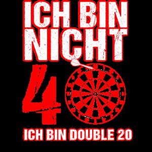 40. Geburtstag Geschenk Mann Dart Spruch Männer 40