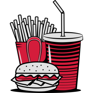 fast food menue lecker