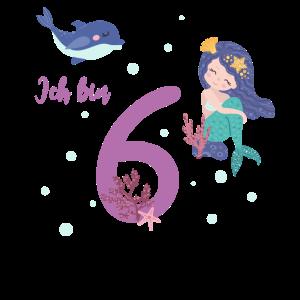 sechster Geburtstag 6 Jahre alt Geburtstagsshirt