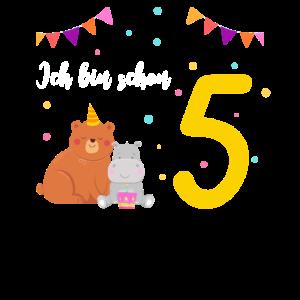 Ich bin 5. Geburtstagsshirt fünfter Geburtstag
