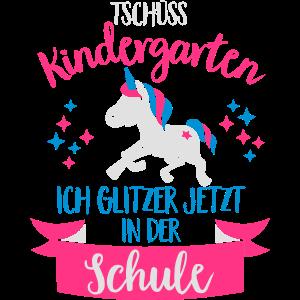 Tschüss Kindergarten, ich glitzer in der Schule