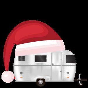 Winter Camper - Wohnwagen mit Zipfelmütze