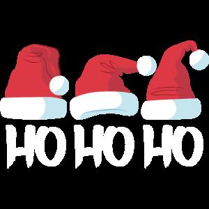 HO HO HO Die drei Weihnachtsmützen