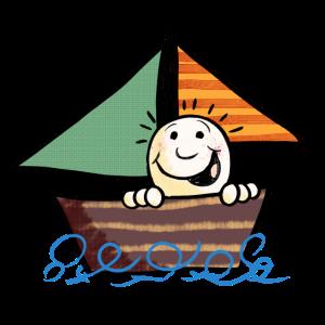 Kind aufm Boot