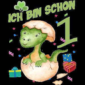 Geburstag 1 Jahr - Dinosaurier Geburtstagsshirt