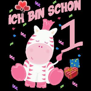 Zebra Geburtstagsshirt 1 Jahr