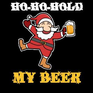 Weichnachtsmann Bier Weihnachtsfeier