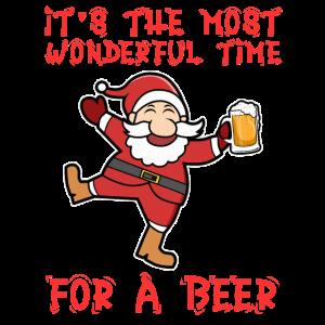 Weihnachtsfeier Weichnachtsmann Bier