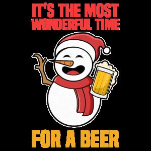 Schneemann Bier Weihnachtsfeier