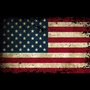 Amerika Flagge Used Look Vintage USA US