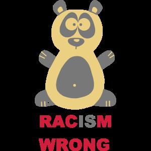 Panda Racism Is Wrong Pandabaer Schule Kinder Kids