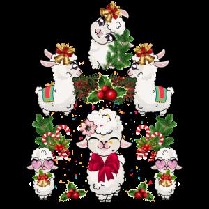 Lama Weihnachtsbaum