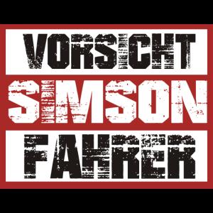 VORSICHT SIMSON FAHRER