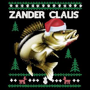 Zander Claus Weihnachts Fischen