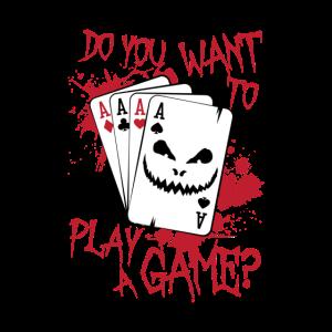 Möchten Sie ein Spiel Poker spielen