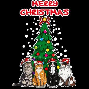 Merry Christmas Weihnachten Katzen Geschenk