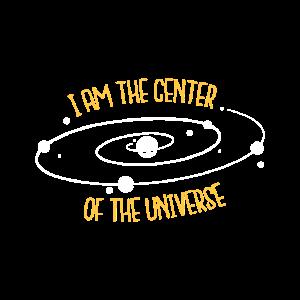 Ich bin der Mittelpunkt des Universums