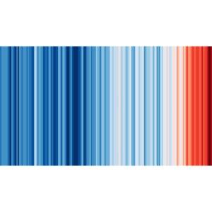 Klimawandel - Warming Stripes - Wärmestreifen