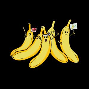 Obst Bananen Demo Demonstration Aufstand