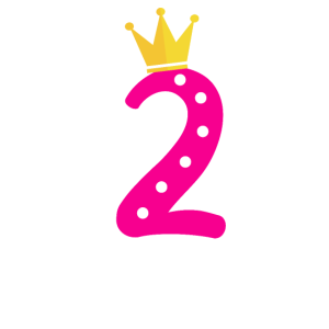 Geburtstagskind 2 Jahre alt Prinzessin Geschenk