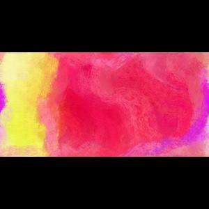 rot gelb gemaltes kunstwerk