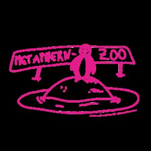 Metaphern-Zoo in pink