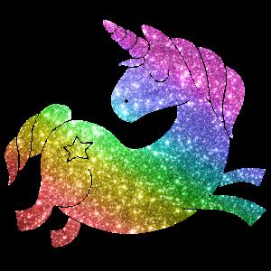 Regenbogen Glitzer Einhorn - Unicorn