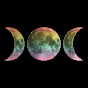 Wicca Regenbogen Mond LGBT Vollmond Symbol