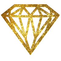 diamant - diamond - Glitter - Gold