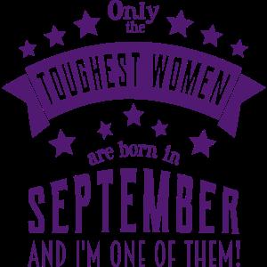Geboren im September Frauen Geburtstag