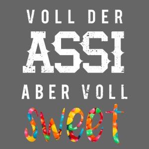 Assi Asozial Sweet Süß Lustige Sprüche Provokant - Männer Premium Kapuzenjacke   Böse Tattoos