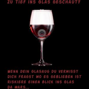 Zu tief ins Glas geschaut ?