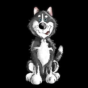 Sibirian Husky Cartoon