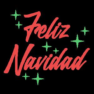 Feliz Navidad - Schrift-Geschenk Idee