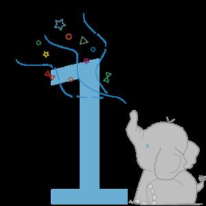 Geburtstags-Elefant