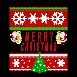 Merry Christmas - Schneemann - Weihnachtsmann
