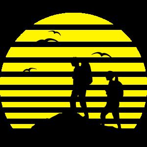 Freizeit - Wanderer und Sonne